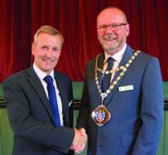 New Mayor of Hunstanton for 2017/18 Cllr Adrian Winnington